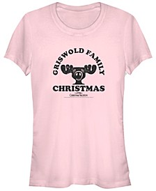 National Lampoon's Christmas Vacation Griswold Family Christmas Moose Logo Women's Short Sleeve T-Shirt