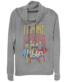 DC Justice League Femme Power Cowl Neck Women's Pullover Fleece