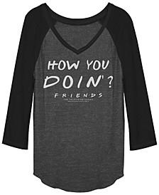 Friends Joey Tribbiani How You Doin Quote Raglan Baseball Women's T-Shirts