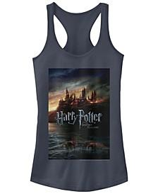 Harry Potter Hogwarts Deathly Hallows Poster Women's Racerback Tank