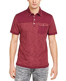 INC Men's Big & Tall Pattern-Blocked Polo Shirt, Created for Macy's