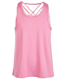 Big Girls Strappy Layered-Look Tank Top, Created for Macy's