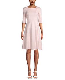 Anne Klein Fit & Flare 3/4-Sleeve Dress