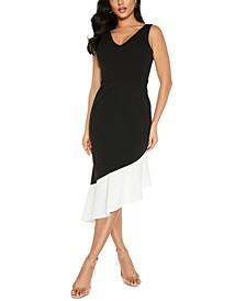 Asymmetric Hem Sheath Dress