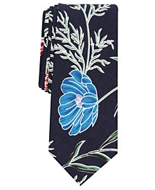 Men's Boxmere Skinny Floral Tie, Created for Macy's