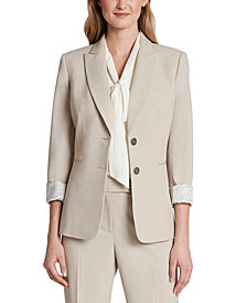 Tahari ASL Roll-Sleeve Jacket