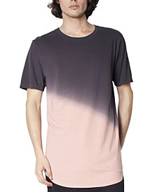 Men's Angled Dip Dyed T-Shirt