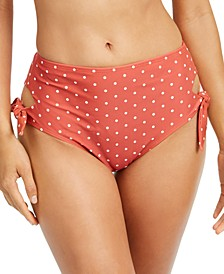 Printed Cutout Side-Tie Bikini Bottoms, Created for Macy's