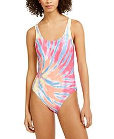 Tie-Dye One-Piece Swimsuit