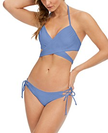 Simone Underwire Wrap Bikini Top & Kylie Side-Tie Bikini Bottoms, Created for Macy's