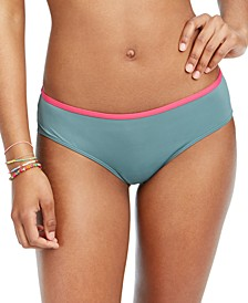 Juniors' Swim In Love Colorblocked Bikini Bottoms