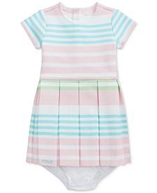 Baby Girls Striped Knit Dress & Bloomer