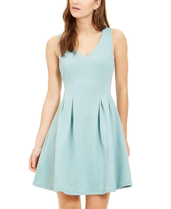 Teeze Me Juniors' Pleated Fit & Flare Dress