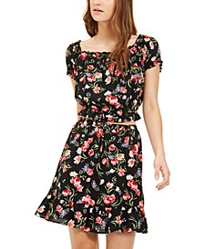 Juniors' Printed 2-Pc. Dress