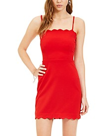 Juniors' Scalloped Bodycon Dress