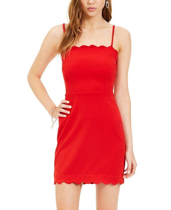 B Darlin Juniors' Scalloped Bodycon Dress