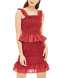 Juniors' 2-Pc. Smocked Dress