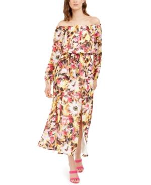 Inc Off-The-Shoulder Floral-Print Maxi Dress