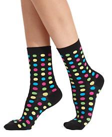 Hot Sox Women's Fun Dot Fashion Crew Socks