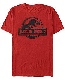 Fifth Sun Jurassic World Fallen Kingdom Men's Black Spray Paint Logo Short Sleeve T-Shirt