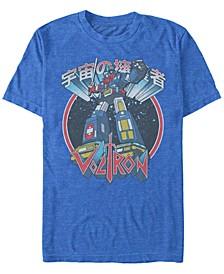 Voltron Defender of the Universe Men's Poster Short Sleeve T-Shirt