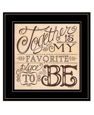 Together by Deb Strain, Ready to hang Framed Print, White Frame, 15