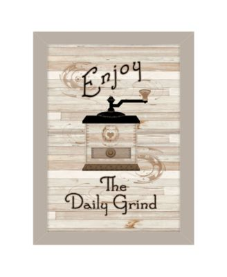 The Daily Grind by Millwork Engineering, Ready to hang Framed Print, White Frame, 10