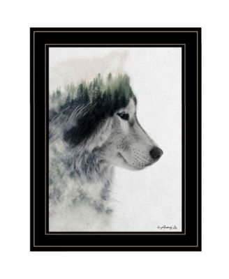 Wolf Stare by andreas Lie, Ready to hang Framed Print, White Frame, 15