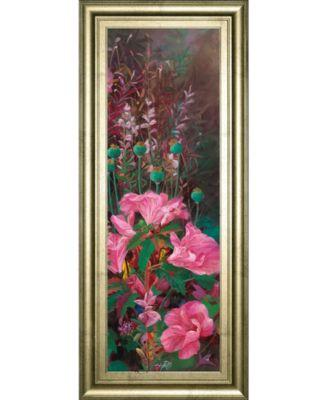 Pink Azalea Garden I by Li Bo Framed Print Wall Art - 18