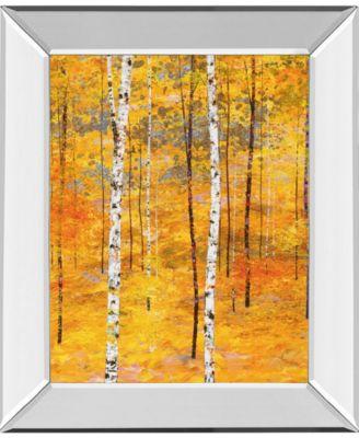 Iridescent Trees V by Alex Jawdokimov Mirror Framed Print Wall Art, 22