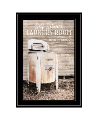 Laundry Room by Lori Deiter, Ready to hang Framed Print, Black Frame, 15