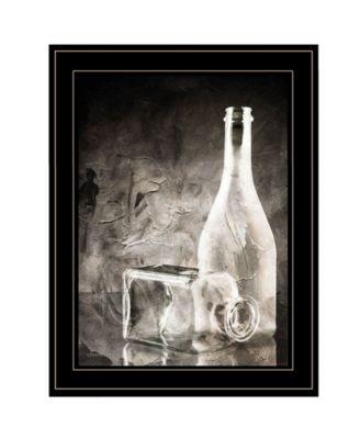 Moody Gray Glassware Still Life by Bluebird Barn, Ready to hang Framed Print, Black Frame, 15