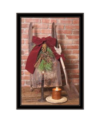 Let Christmas Live by Billy Jacobs, Ready to hang Framed Print, Black Frame, 15