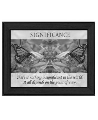 Significance By Trendy Decor4U, Printed Wall Art, Ready to hang, White Frame, 14