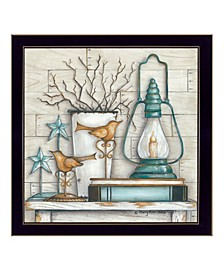 Trendy Decor 4U Lantern on Books By Mary June, Printed Wall Art, Ready to hang Collection