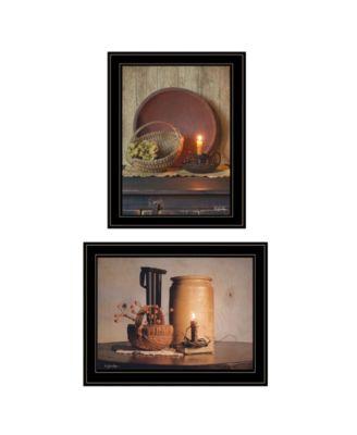 Red Bowl / Bittersweet Basket 2-Piece Vignette by Susie Boyer, White Frame, 19