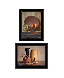 Trendy Decor 4U Red Bowl / Bittersweet Basket 2-Piece Vignette by Susie Boyer Collection