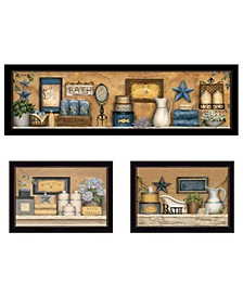 Trendy Decor 4U Starlight Bath Collection 3-Piece Vignette by Carrie Knoff Collection