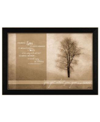 Its About Love By Marla Rae, Printed Wall Art, Ready to hang, Black Frame, 20