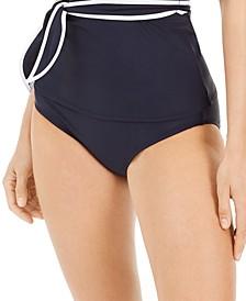 Tied High-Waist Bikini Bottoms