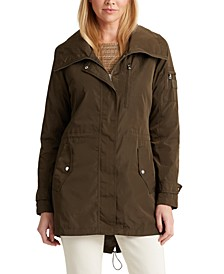 Petite Hooded Anorak Coat