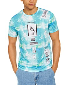 Men's Tie-Dye Collage Graphic T-Shirt