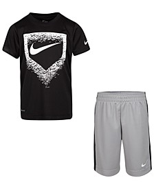 Little Boys 2-Pc. Dri-FIT T-Shirt & Shorts Set