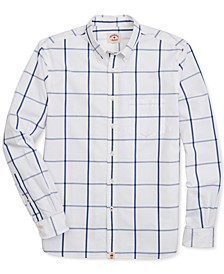 Men's Broadcloth Pattern Cotton Shirt, Created for Macy's