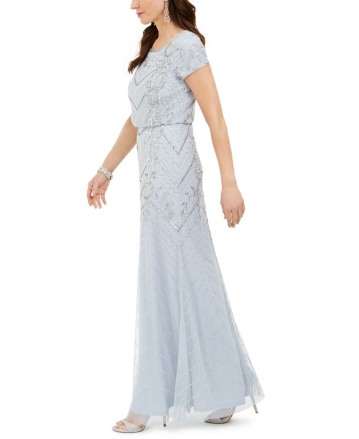 Adrianna Papell Petite Beaded Gown & Reviews - Dresses - Petites - Macy's