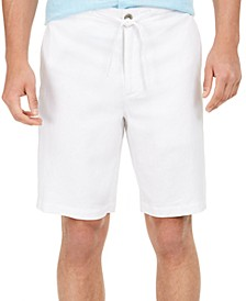 "Men's Solid Drawstring 10"" Shorts, Created for Macy's"