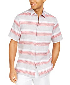 Men's Stripe Linen Shirt, Created for Macy's