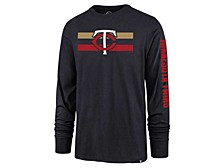 Minnesota Twins Men's Cross Stripe Long Sleeve T-Shirt