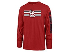 St. Louis Cardinals Men's Cross Stripe Long Sleeve T-Shirt