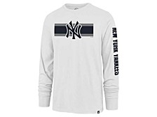 New York Yankees Men's Cross Stripe Long Sleeve T-Shirt